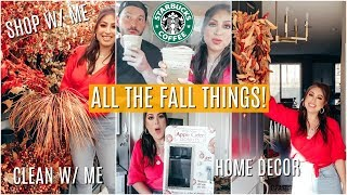 PREPPING for FALL AUTUMN! Home DECOR Shop With me, CLEAN with me, Decorate