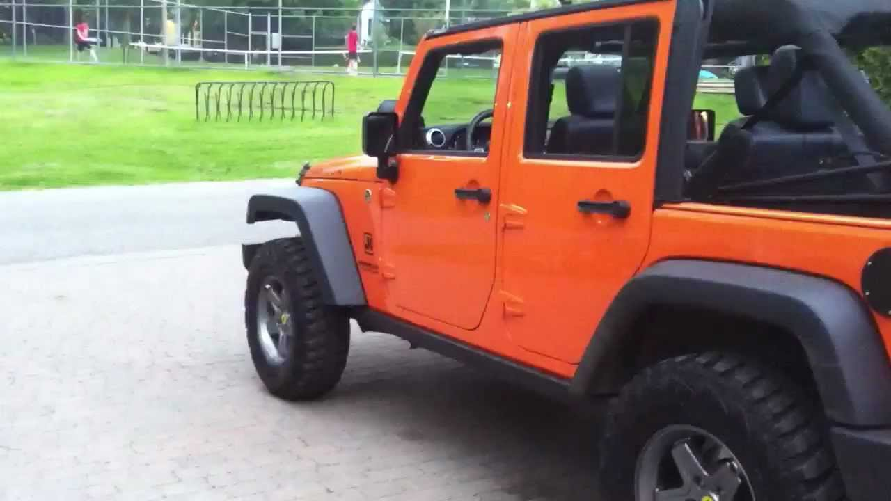 Lifted Jeep Wrangler >> Jeep JK orange crush lifted - YouTube