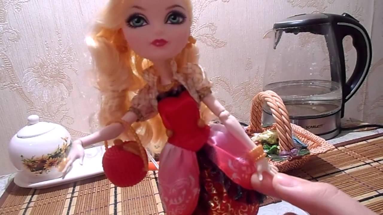 Видео обзор куклы Эвер Афтер Хай Эпл Вайт Эпическая зима / Ever .