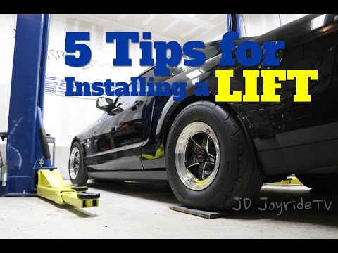 5 Tips before installing a car lift in your garage