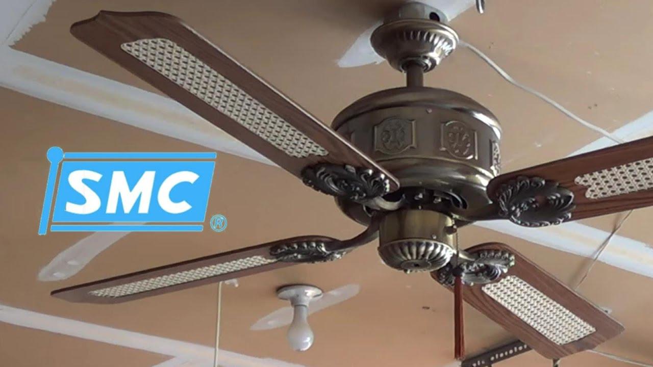 Ceilings Fans Huggers Smc : Smc emperor ceiling fan p remake youtube