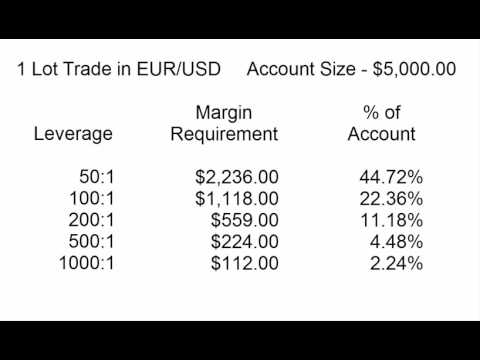 Understanding Forex Leverage, Margin Requirements & Trade Size