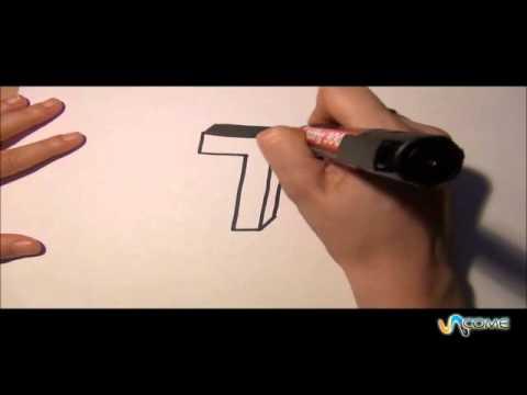 Come disegnare la lettera t in 3d youtube for Disegnare una stanza in 3d