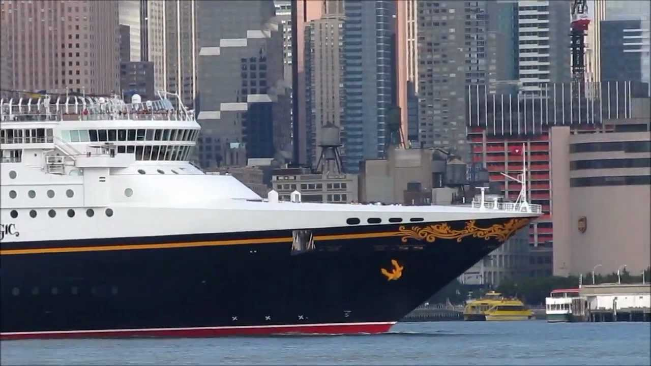 Cruise Ship Disney Magic Departs NYC Part YouTube - What cruise ships leave from nyc