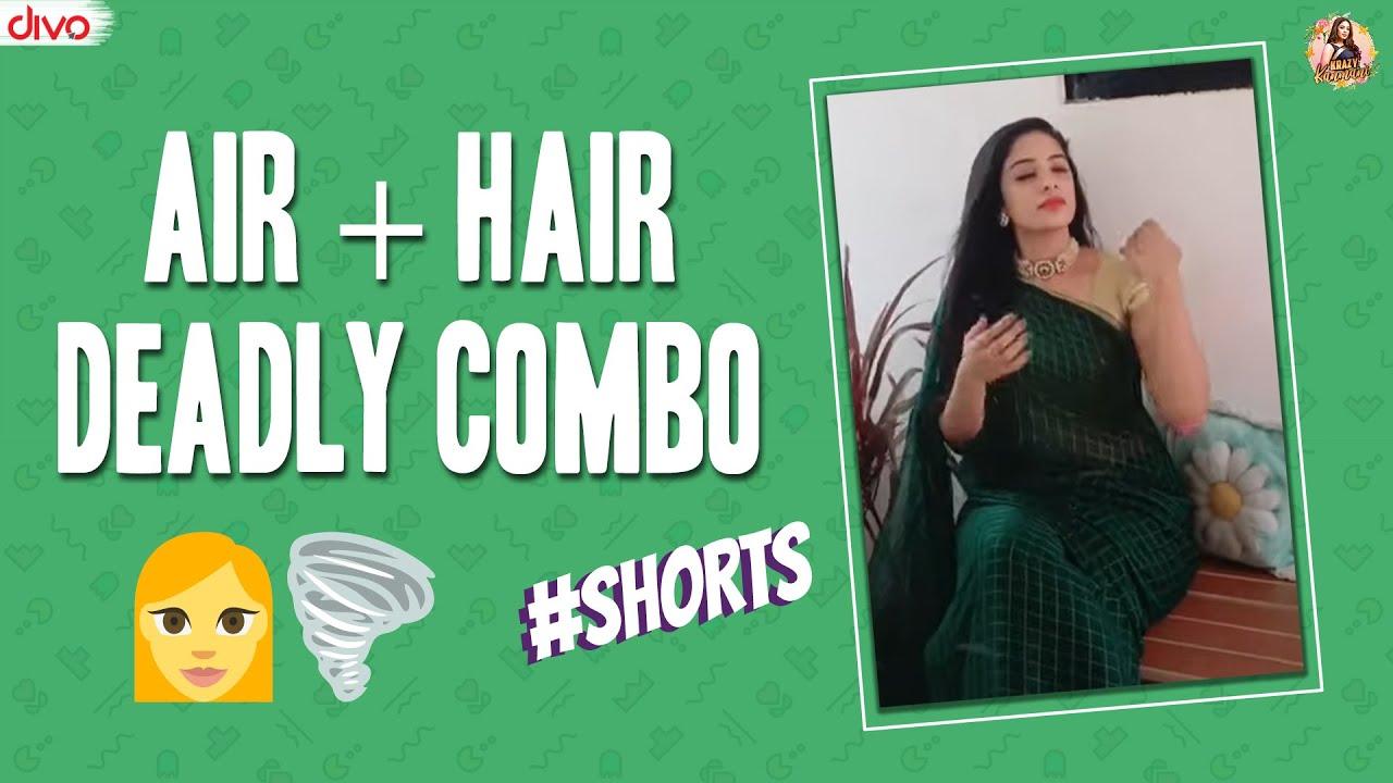 Air + Hair Deadly Combo 👩🌪 #shorts