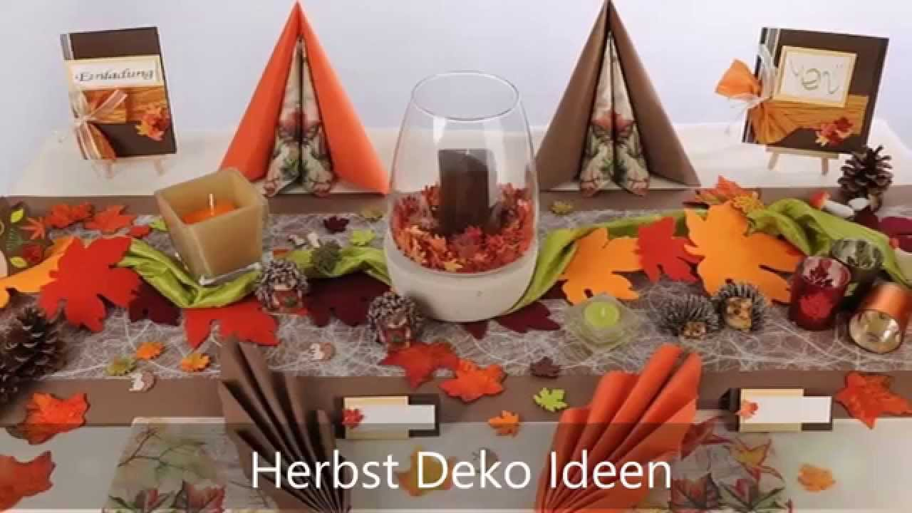 Herbst Tischdeko von Tafeldekode mit neuen Mustertischen  YouTube