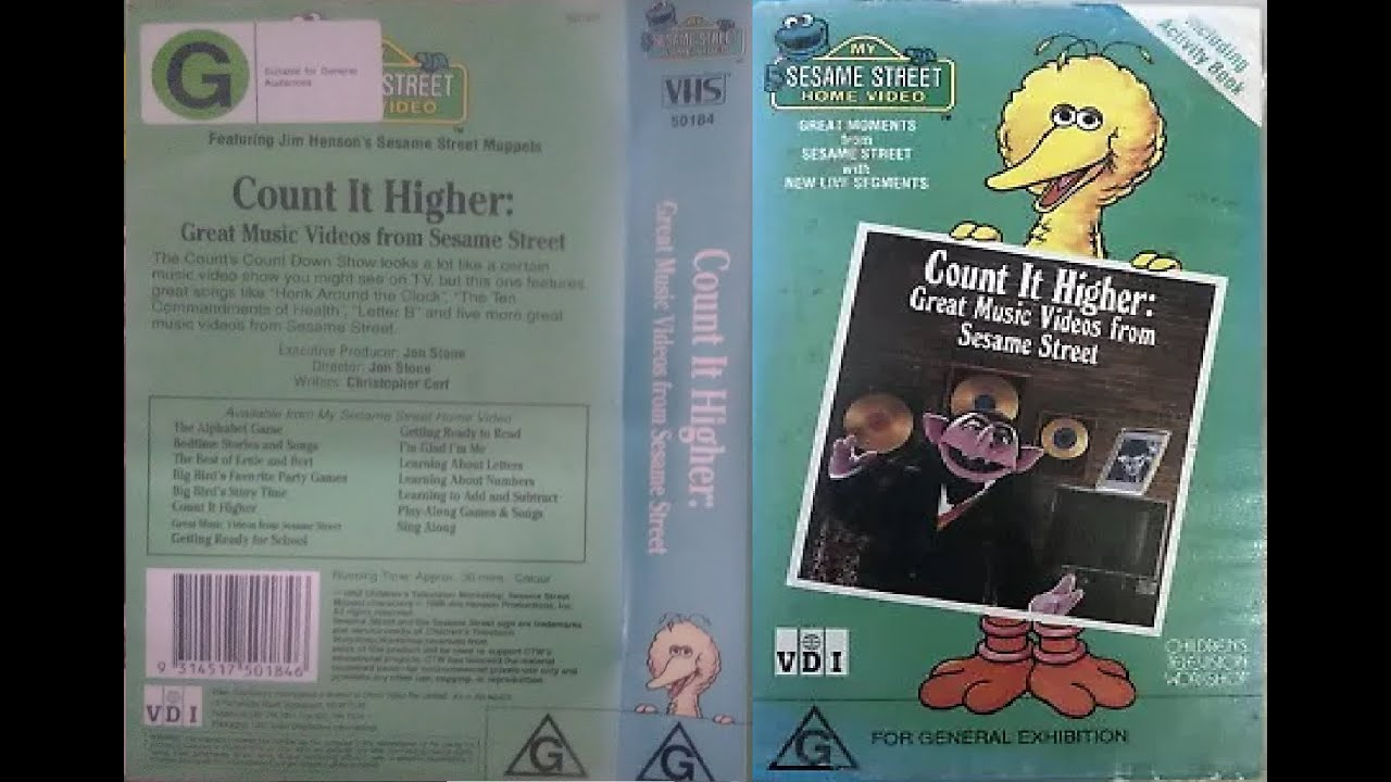 Download My Sesame Street Home Video Count It Higher Great Music Videos From Sesame Street Australian VHS