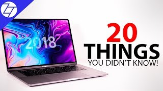 MacBook Pro 2018 - 20 Things You Didn't Know!