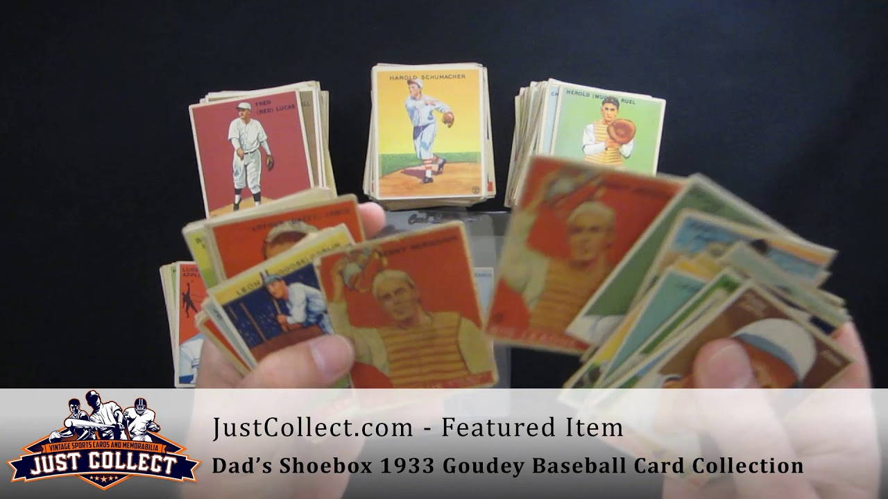 Dads 1933 Goudey Shoebox Collection