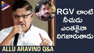 Allu Aravind Q&A about RGV and Pawan Kalyan Controversy | Allu Aravind Press Meet about Sri Reddy
