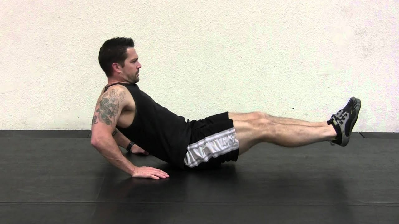 Seated Knee Pull Ins Male - YouTube