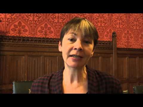 MP Caroline Lucas talks in support of the #Heathrow13