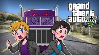 """Truckers Vs Bikers"" | GTA V Funny Moments | w/ Bryce, Dracula, Satt"