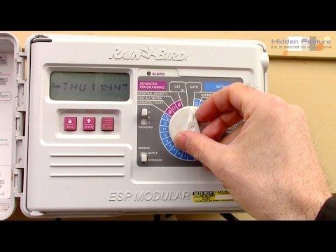 How To Program A Rain Bird Sprinkler Timer ESP Modular Controller