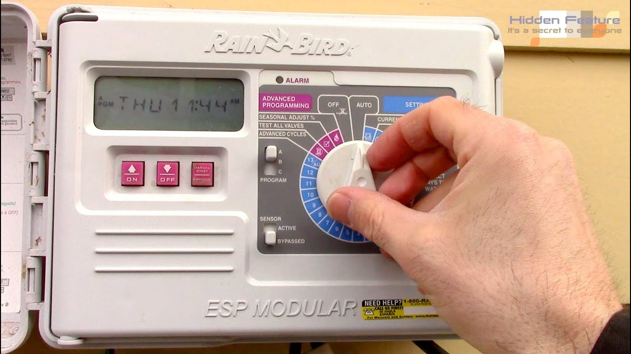 How to program a rain bird sprinkler timer esp modular controller how to program a rain bird sprinkler timer esp modular controller youtube sciox Choice Image