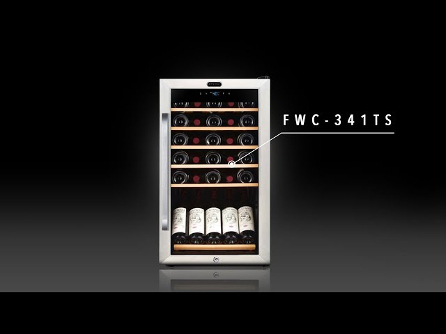 FWC-341TS Whynter 34 Bottle Freestanding Stainless Steel Wine Refrigerator with Display Shelf