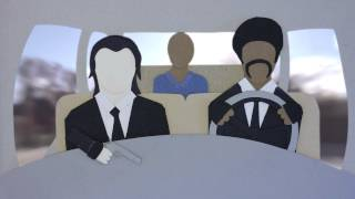 "Pulp Fiction ""I shot Marvin in the face"" Cut out-animation"