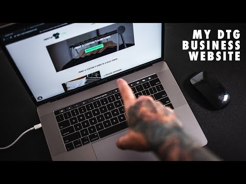 My New DTG Printing Business Website!
