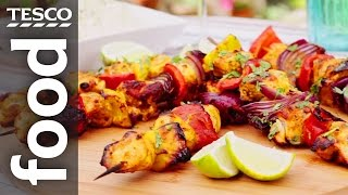 How To Make Indian-spiced Chicken Kebabs | Tesco Food