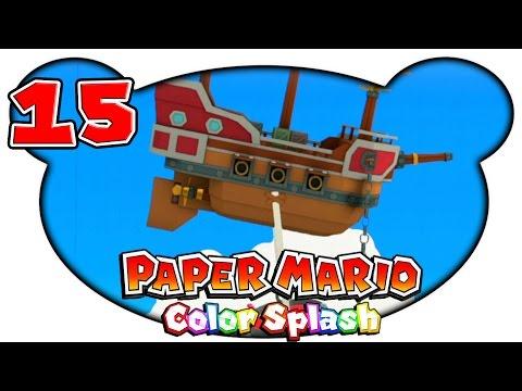 Paper Mario Color Splash 15  Das Luftschiff der Farbdiebe Let's Play Deutsch Gameplay
