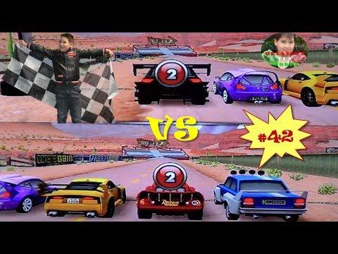 DISNEY PIXAR CARS - MATER NATIONAL - PART#42 - RED & BLACK OTTO VS CRUISIN' MCQUEEN
