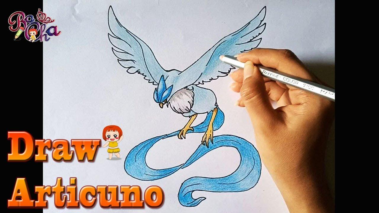 vẽ pokemon articuno (furiizaa,freezer) –  BoCha – how to draw pokemon articuno