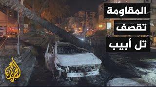 شاهد| لحظة سقوط صاروخ للمقاومة في تل أبيب