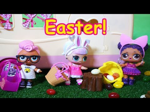 LOL SURPRISE DOLLS Go Camping For Easter!?
