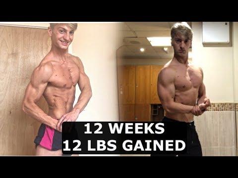 Natural muscle gain per week