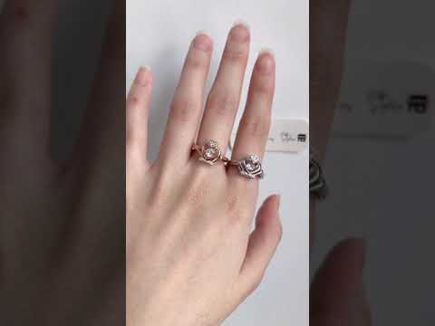 Crown dancing stone ring 2