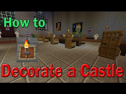 How to Decorate Castle | Minecraft | Chandelier + Table + Light Tutorial