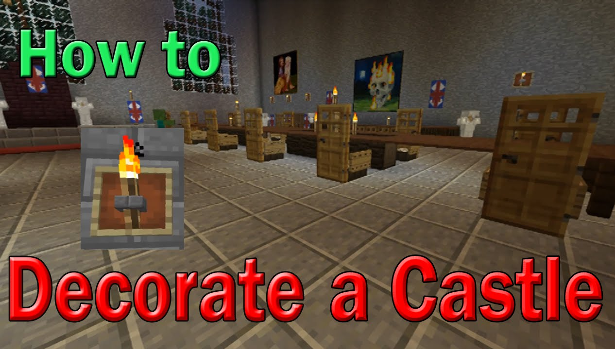 how to decorate castle | minecraft | chandelier + table + light