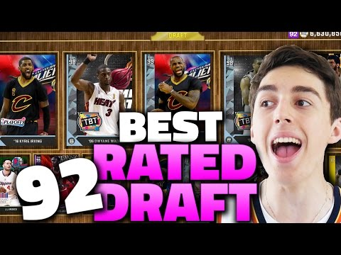 THE BEST 92 RATED DRAFT! NBA 2K16 DRAFT AND PLAY
