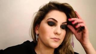maquiagem com sombra preta e batom vermelho por alice salazar parte 1