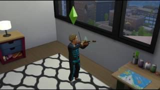 The Sims 4 - обучение игре на скрипке