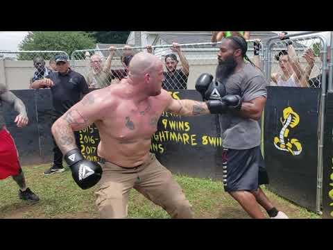 NEO NAZI VS CRIP  HEAVY WEIGHT BOXING KNOCKOUT!!!!