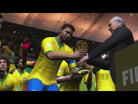 2014 FIFA World Cup Brazil: Brazil wins the World Cup! HD Gameplay