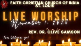 FCCIndia LIve Worship 11/01/2020 | FCCI St. Louis
