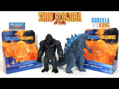 Playmates: Godzilla Vs. Kong - Giant Godzilla \u0026 Giant Kong | Double Figure Review
