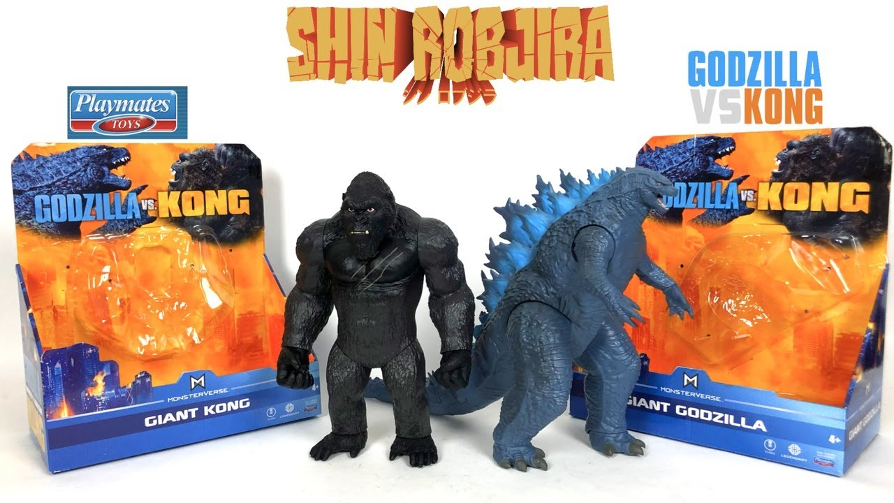 Playmates Godzilla Vs Kong Giant Godzilla Giant Kong Double Figure Review Youtube