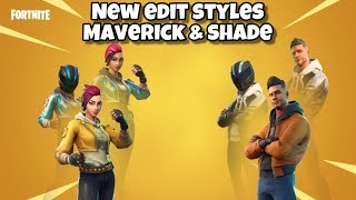 *NEW* Fortnite Maverick & Shade Edit Styles With Helmet & Without Helmet! Fortnite BR - Update V9.10