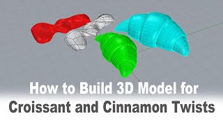Rhino 7 SubDs-Croissant And Cinnamon Twists Forms 3D Modeling 193