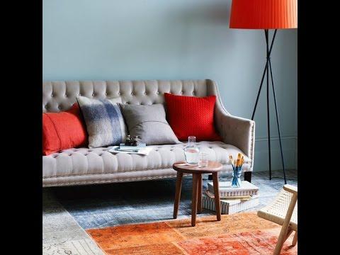 Color Blue Living Room Modern Family