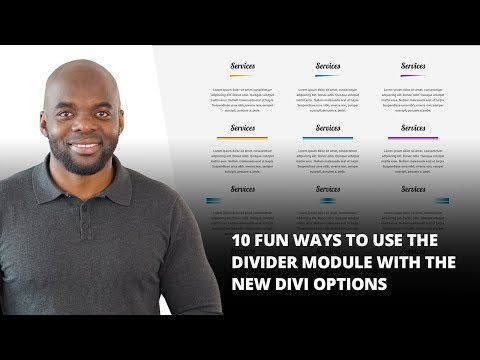 10 Fun Ways to Use The Divider Module with The New Divi Options
