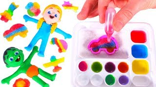 KIDS PLAYING WITH A JAPANESE CANDY SET ❤ SUPERHERO PLAY DOH CARTOONS FOR KIDS