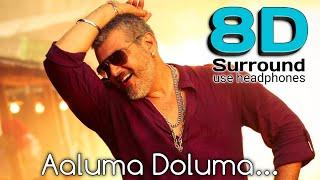 Aaluma Doluma 8D | Vedhalam-Aaluma Doluma Video song | break free musix