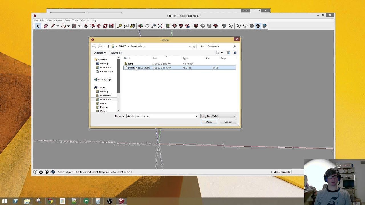 How to modify an stl file using sketchup youtube for Stl file sketchup