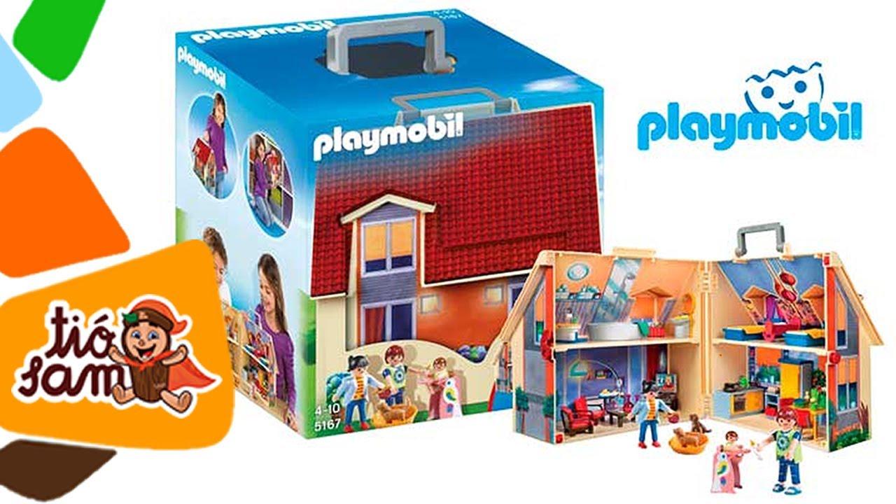 Playmobil casa de mu ecas malet n youtube for Casa maletin playmobil