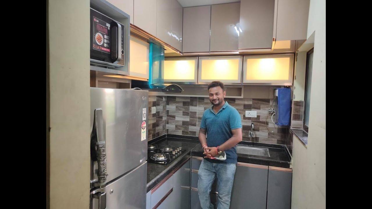 L Shape 9' x 9.9' Modular kitchen design ideas  Small Modular kitchen  Design 9