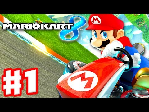 Mario Kart 8 - Gameplay Part 1 - 50cc Mushroom Cup (Nintendo Wii U Walkthrough)